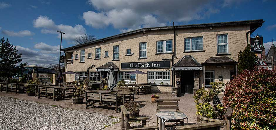 The Forth Inn Beer Garden and Parking area