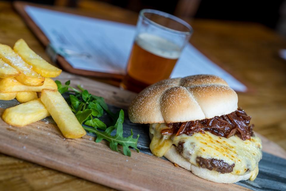 Forth Inn Haggis Burger