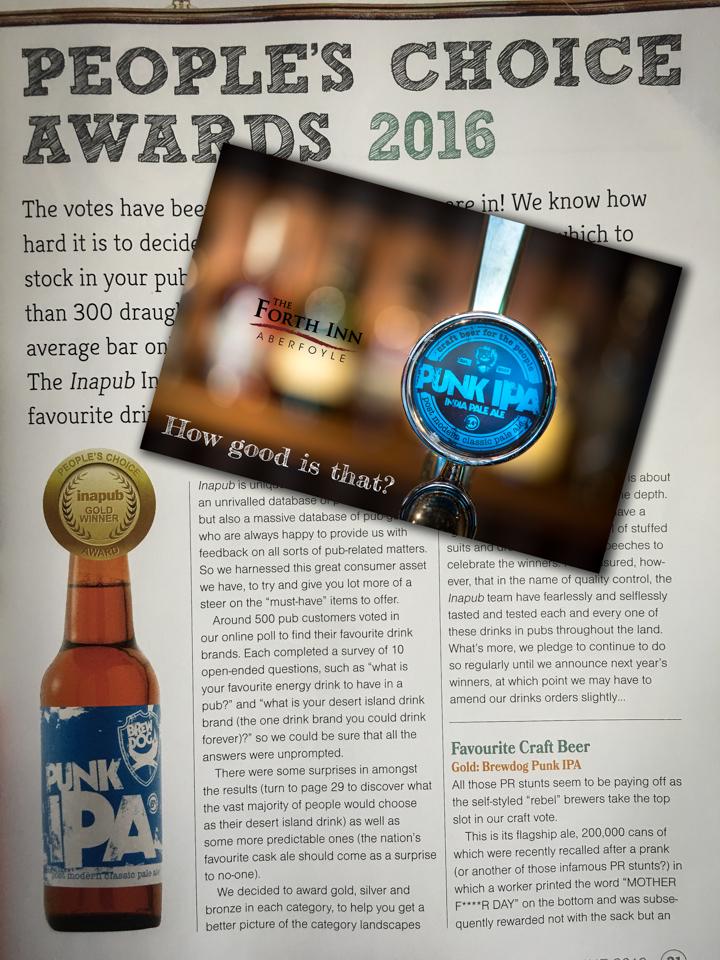 Brewdog Punk IPA Award - Forth Inn