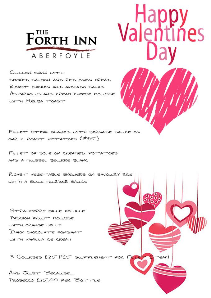 Valentines Menu @The Forth Inn