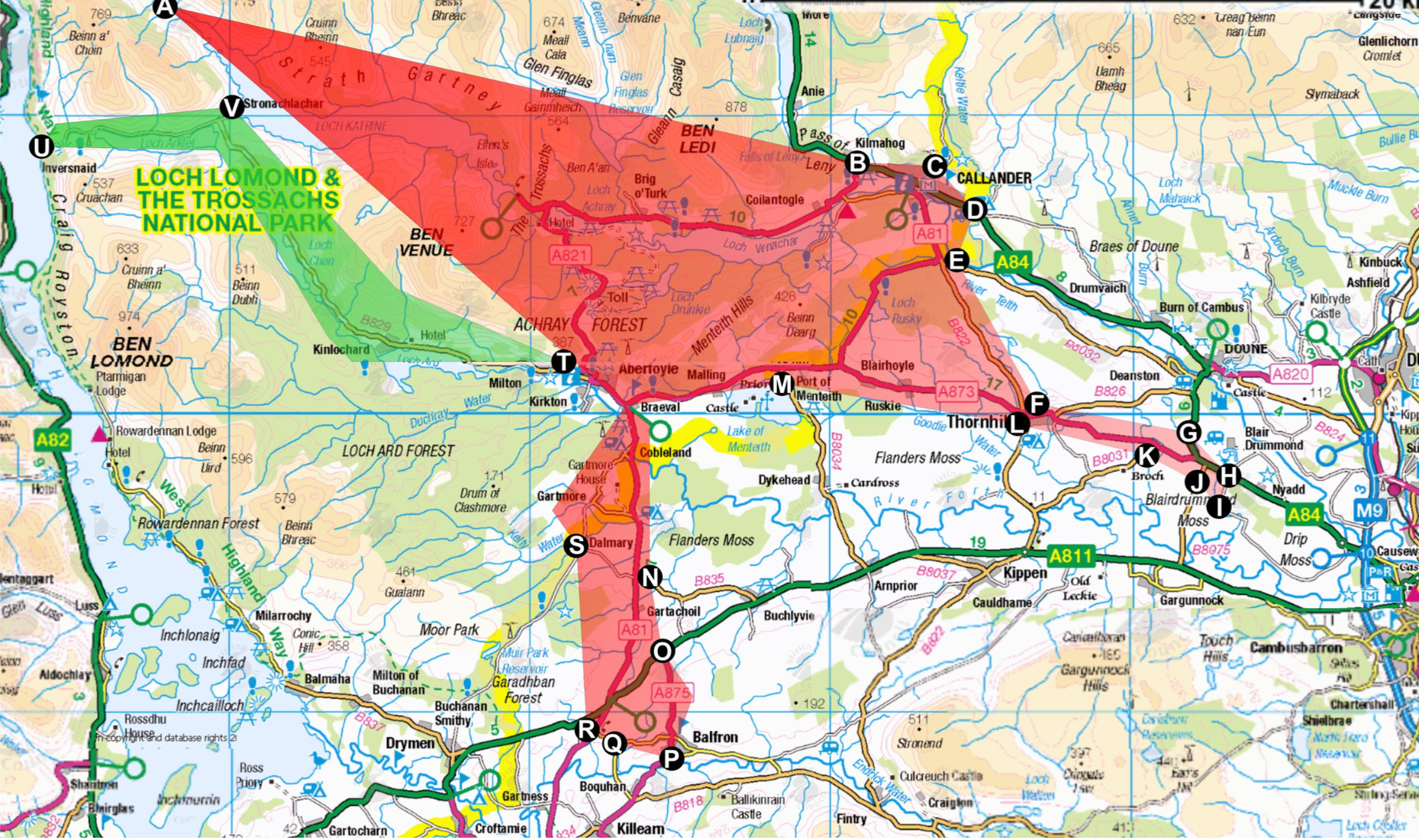 DRT Map Trossachs Area